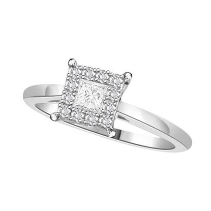 Picture of 0.25CT PC/RD DIAMONDS SET IN 14KT WHITE GOLD LADIES RING