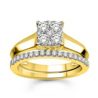 Picture of 0.75CT RD DIAMONDS SET IN 14K YELLOW GOLD LADIES RING