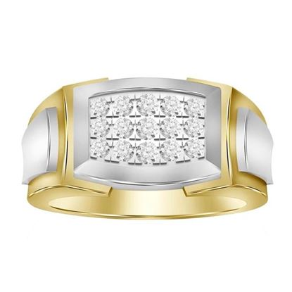 Picture of 0.50CT RD DIAMONDS SET IN 10KT WHITE & YELLOW GOLD MENS RING