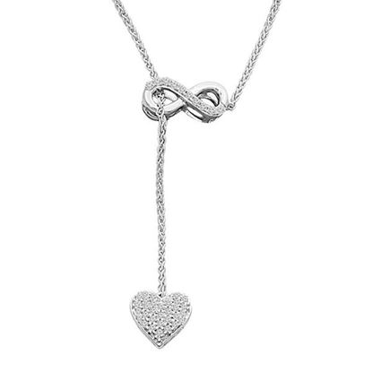 Picture of 0.15CT RD DIAMONDS SET IN 10KT WHITE GOLD LADIES NECKLACE