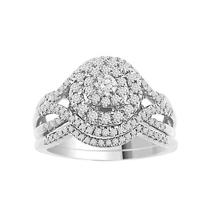 Picture of 0.75CT RD DIAMONDS SET IN 14KT WHITE GOLD LADIES BRIDAL RING