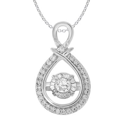 Picture of 0.25 CT ROUND DIAMOND SET IN 10 KT WHITE GOLD LADIES PENDANTS