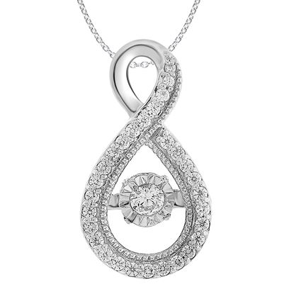 Picture of 0.33 CT ROUND DIAMOND SET IN 10 KT WHITE GOLD LADIES PENDANTS