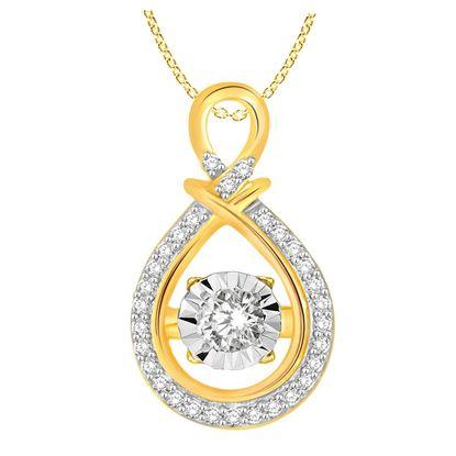 Picture of 0.25 CT ROUND DIAMOND SET IN 10 KT YELLOW GOLD LADIES PENDANTS