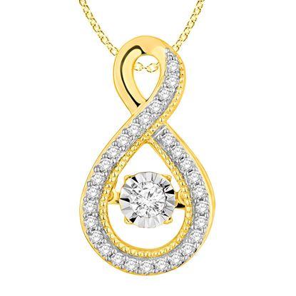 Picture of 0.33 CT ROUND DIAMOND SET IN 10 KT YELLOW GOLD LADIES PENDANTS