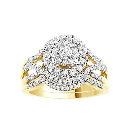 Picture of 0.75CT RD DIAMONDS SET IN 14KT YELLOW GOLD BRIDAL RING