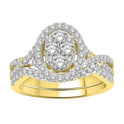 Picture of 1.00CT RD DIAMONDS SET IN 14KT YELLOW GOLD LADIES RING