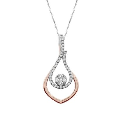 Picture of 0.25CT RD DIAMONDS SET IN 10KT TT YELLOW & WHITE GOLD LADIES PENDANT