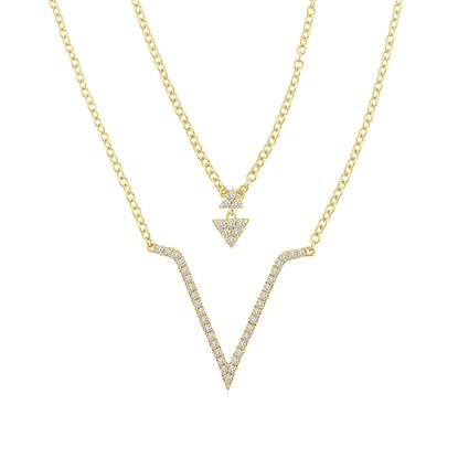 Picture of 0.25CT RD DIAMONDS SET IN 14KT YELLOW GOLD LADIES NECKLACE