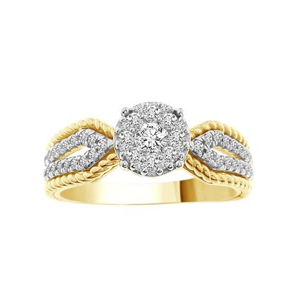 Picture of 0.50CT RD DIAMONDS SET IN 14KT YELLOW GOLD LADIES RING