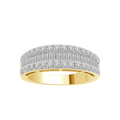 Picture of 1.00CT RD/BGT DIAMONDS SET IN 10KT YELLOW GOLD LADIES BAND