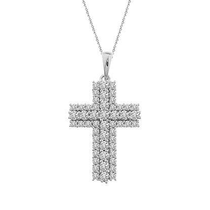 Picture of 1.00CT RD DIAMONDS SET IN 10KT WHITE GOLD LADIES PENDANT