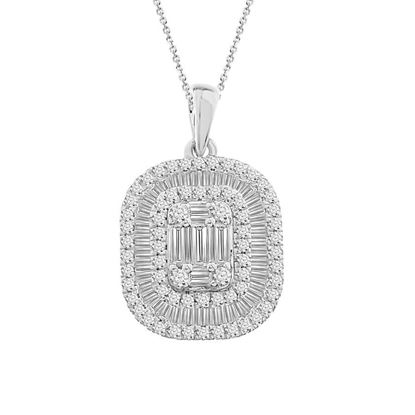 Picture of 0.75CT RD/BGT DIAMONDS SET IN 14KT WHITE GOLD LADIES PENDANT