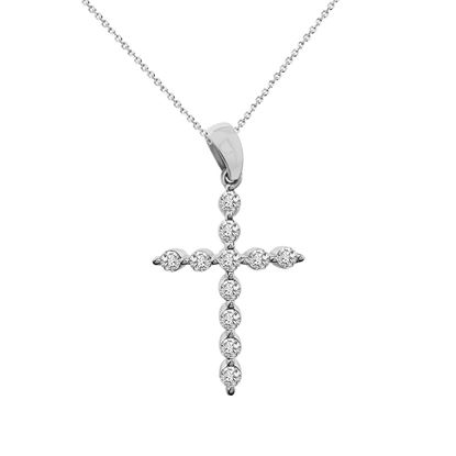 Picture of 0.50CT RD DIAMONDS SET IN 10KT WHITE GOLD LADIES PENDANT
