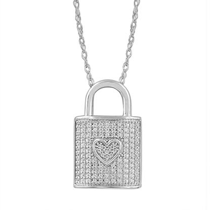 Picture of 0.15CT RD DIAMONDS SET IN SILVER LADIES PENDANT WITH CHAIN