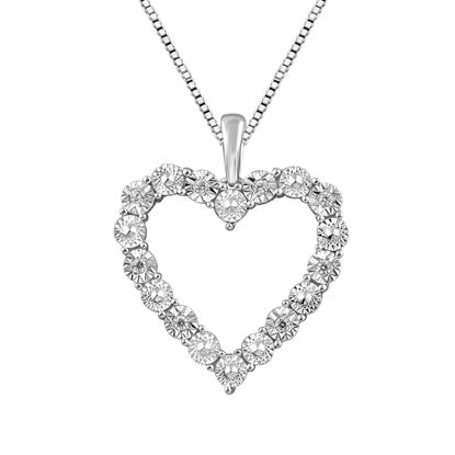 Picture of 0.05CT RD DIAMONDS SET IN SILVER PENDANT WITH CHAIN