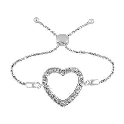 Picture of 0.10CT RD DIAMONDS SET IN SILVER LADIES BRACELET