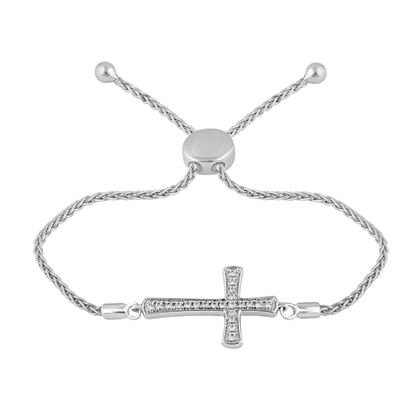 Picture of 0.20CT RD DIAMONDS SET IN SILVER LADIES BRACELET