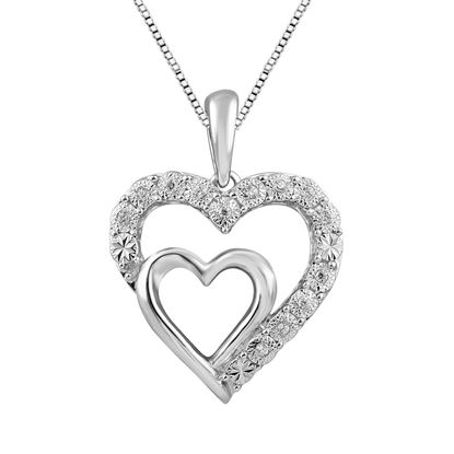Picture of 0.05CT RD DIAMONDS SET IN SILVER LADIES PENDANT WITH CHAIN