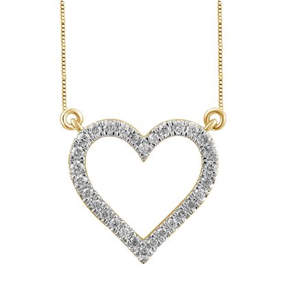 Picture of 0.15CT RD DIAMONDS SET IN 10KT YELLOW GOLD LADIES PENDANT
