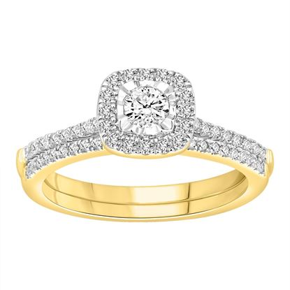 Picture of 0.65CT RD DIAMONDS SET IN 14KT YELLOW GOLD LADIES BRIDAL RING