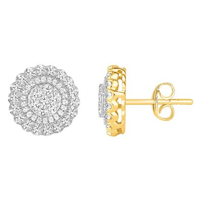 Picture of 0.75CT RD DIAMONDS SET IN 10KT YELLOW GOLD LADIES EARRING