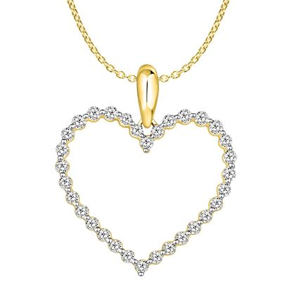 Picture of 0.50CT RD DIAMONDS SET IN 10KT YELLOW GOLD LADIES PENDANT