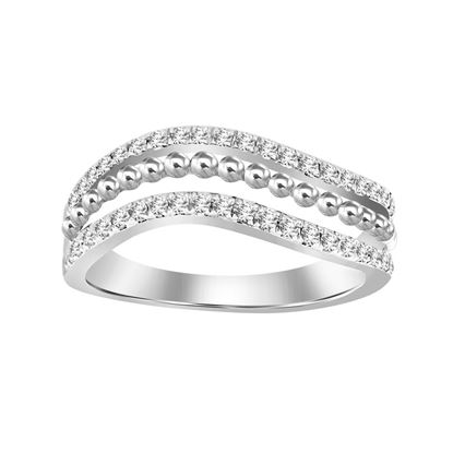 Picture of 0.25CT RD DIAMONDS SET IN 14KT WHITE GOLD LADIES BAND