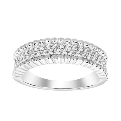 Picture of 0.30CT RD DIAMONDS SET IN 14KT YELLOW GOLD LADIES BAND