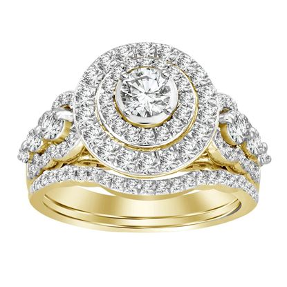 Picture of 1.50CT RD DIAMONDS SET IN 14KT YELLOW GOLD LADIES RING