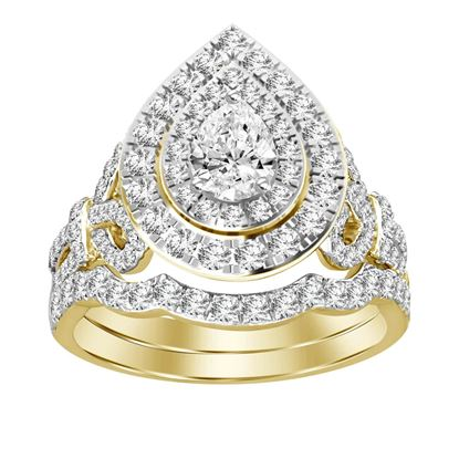 Picture of 1.50CT RD DIAMONDS SET IN 14KT YELLOW GOLD LADIES BRIDAL RING