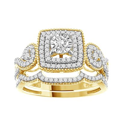 Picture of 0.50CT RD DIAMONDS SET IN 14KT YELLOW GOLD LADIES BRIDAL RING