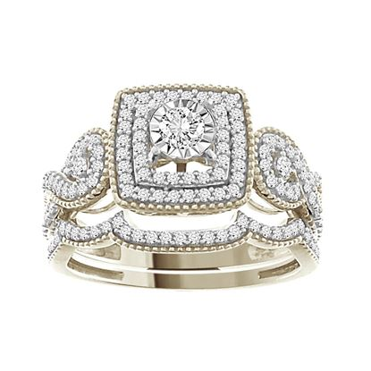 Picture of 0.50CT RD DIAMONDS SET IN 14KT WHITE GOLD LADIES BRIDAL RING