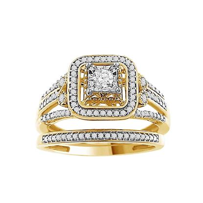 Picture of 0.33CT RD DIAMONDS SET IN 10KT YELLOW GOLD LADIES BRIDAL RING