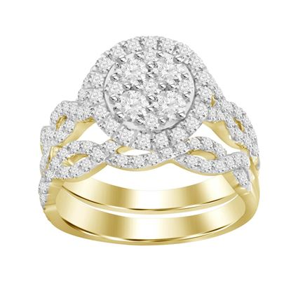 Picture of 1.25CT RD DIAMONDS SET IN 14KT YELLOW GOLD LADIES BRIDAL RING