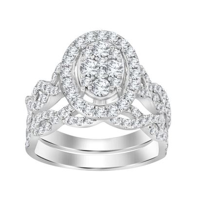 Picture of 1.25CT RD DIAMONDS SET IN 14KT WHITE GOLD LADIES BRIDAL RING