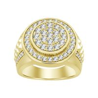 Picture of 2.00CT RD DIAMONDS SET IN 14KT YELLOW GOLD MENS RING
