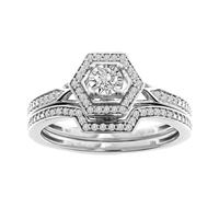 Picture of 0.25CT RD DIAMONDS SET IN 10KT WHITE GOLD LADIES BRIDAL RING
