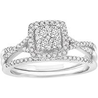 Picture of 1.00CT RD DIAMONDS SET IN 14KT WHITE GOLD LADIES RING
