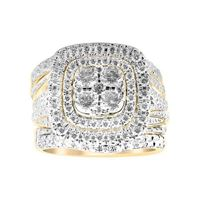 Picture of 3.00CT RD/BGT DIAMONDS SET IN 14KT YELLOW GOLD LADIES BRIDAL RING