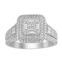 Picture of 0.50CT RD DIAMONDS SET IN 10KT WHITE GOLD LADIES BRIDAL RING