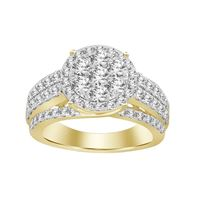 Picture of 2.00CT RD DIAMONDS SET IN 14KT YELLOW GOLD LADIES BRIDAL RING