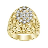 Picture of 1.50CT RD DIAMONDS SET IN 14KT YELLOW GOLD MENS RING
