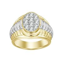 Picture of 1.00CT RD DIAMONDS SET IN 10KT TT YELLOW & WHITE GOLD MENS RING