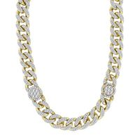 Picture of 13.75CT RD DIAMONDS SET IN 10KT YELLOW GOLD MENS NECKLACE